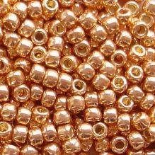 Toho 8/0 Seed Beads Permanent Finish Galvanised Rose Gold PF551 - 10 grams